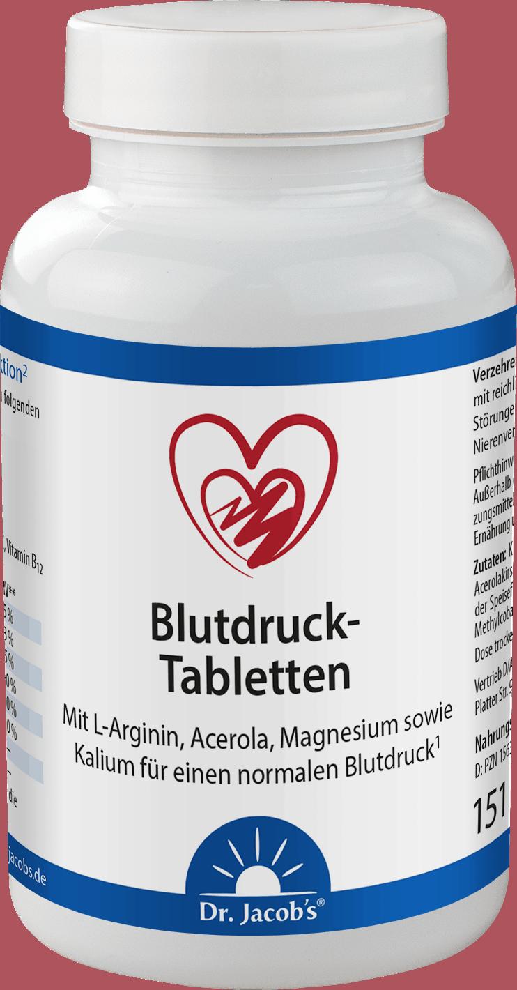 Blutdruck Tabletten Dose in weiß
